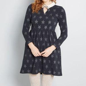 NWT Modcloth I'm Only Prancing Long Sleeve Dress M